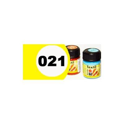 """Краска акриловая """"Marabu"""" 15 мл для светлой ткани №021 желтый **"""