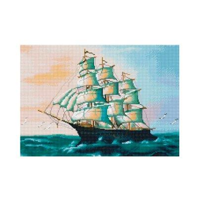Алмазная живопись 40 х 50 Корабль на волнах GA 5187 **