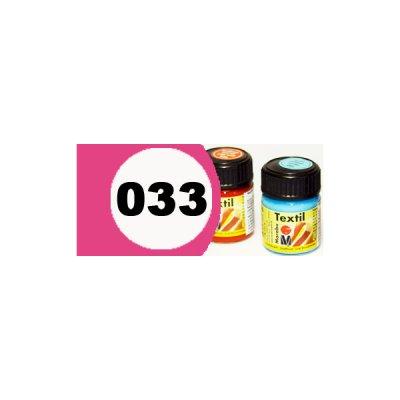 """Краска акриловая """"Marabu"""" 15 мл для светлой ткани №033 розовая темная **"""