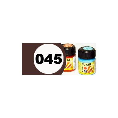 """Краска акрилиловая """"Marabu"""" 15 мл для светлой ткани №045 темно-коричневый **"""