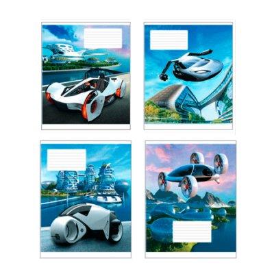 Тетрадь 12 л #  в клетку Полиграфист 673 Машины будущего *