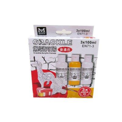 Краски акриловые 3цв Crackle АМСА03100 для кракелюра 100мл **