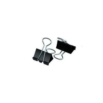 Биндер - зажим металлический черный 19 мм