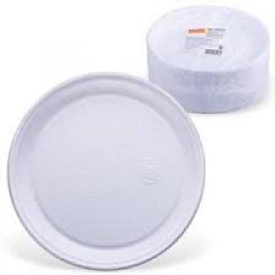 Тарелка пластиковая d-205 большая (100 шт) *