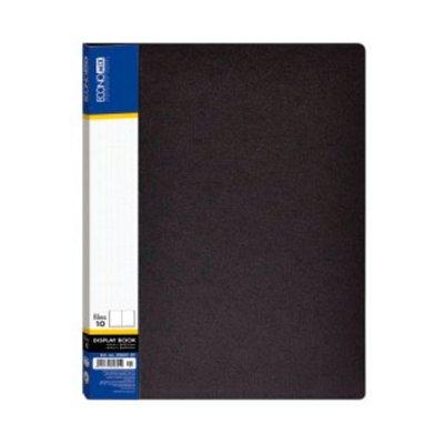 Папка пластиковая А4 10 файлов Economix E30601-01 черная