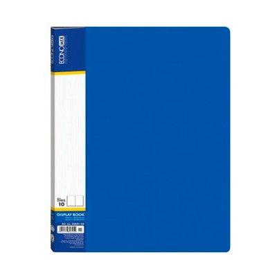 Папка пластиковая  с 10 файлами А4  Economix E30601-02 синяя