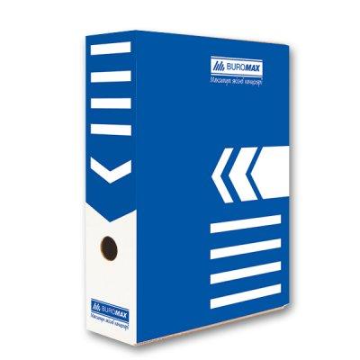 "Коробка архивная картонная А4 100 мм ""BuroMAX"" BM 3261-02 синяя"