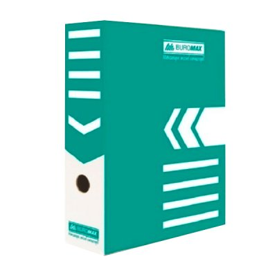 "Коробка архивная картонная А4 100 мм ""BuroMAX"" BM 3261-06 бирюзовая"