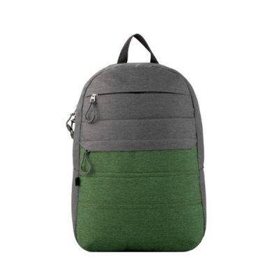 """Рюкзак """"GoPack"""" GO20-118L-2 """"City"""" серый с зеленым  *"""