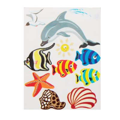 Набор наклеек для интерьера  Рыбки №17 **