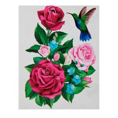 Набор наклеек для интерьера ZV  Роза + птица №25 **