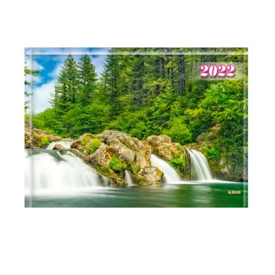 Календарь настенный 3 месяца 2022 БЭК-03 Река (1 спираль)