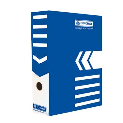 "Коробка архивная картонная А4 80 мм ""BuroMAX"" BM 3260-02 синяя"