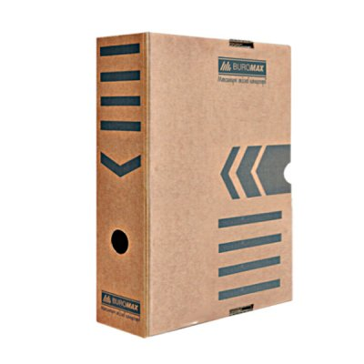 """Коробка архивная  картонная  А4  80 мм """"BuroMAX"""" BM 3260-34 крафтовая"""