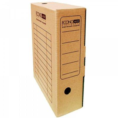 """Коробка архивная картонная А4 80 мм """"Economix"""" E32701-07 коричневая"""