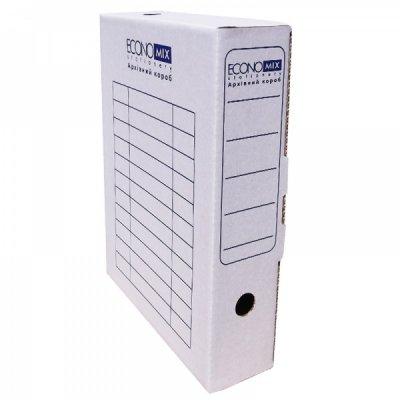 """Коробка архивная картонная А4 80 мм """"Economix"""" E32701-14 белая"""