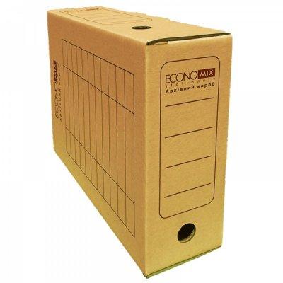 """Коробка архивная картонная А4/100 """"Economix"""" E32704-07 коричневая"""