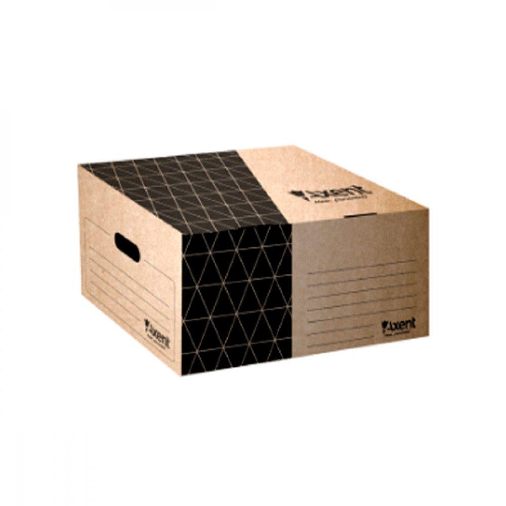 """Коробка архивна картонная А3 450 мм """"Axent"""" 1734-00 крафтовая"""