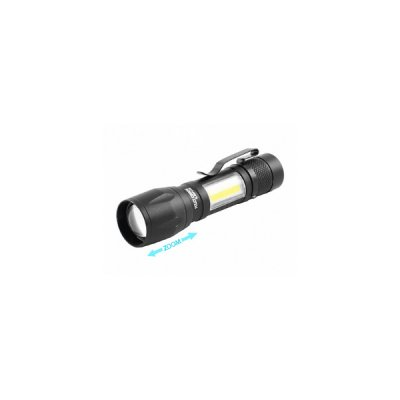 Фонарик  Police 507-XPE 1х АА/1х14500 zoom+зажим черный