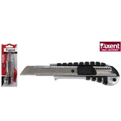 Нож канцелярский 18 мм Axent 6901 металический корпус