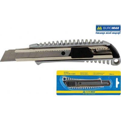 Нож канцелярский 18 мм BuroMAX BM4620 металлический корпус