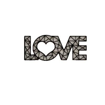 """Картина """"LOVE""""  600х250   Панно 216 """"Kancler"""" **"""