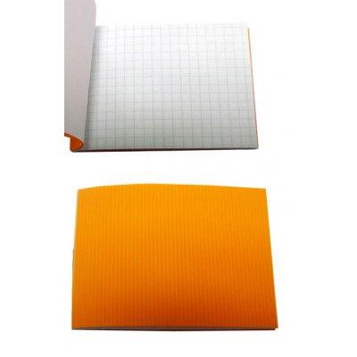 Блокнот А7 24 л # в клетку ВА7524-П01 пластиковая обложка, оранжевый