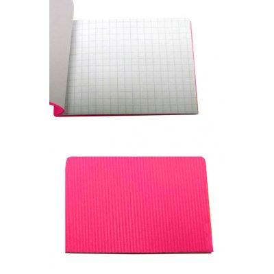Блокнот А7 24 л #  в клетку  ВА7524-П01 пластиковая обложка, розовый