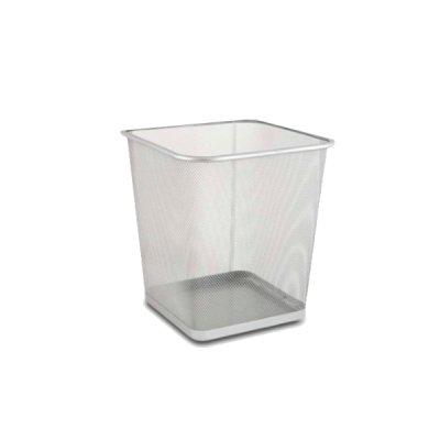 Корзина для бумаг Optima O36311-10 квадратная металлическая серебро