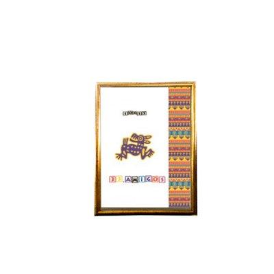Рамка для фото 10х15 15мм золото