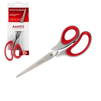"""Ножницы """"Axent"""" 21см 6102-06 серо-красн."""