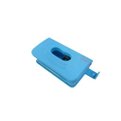 """Дырокол """"BuroMAX"""" 4016-14 Rubber Touch на 10 листов, пластиковый,с линейкой, на 2 отверстия, голубой"""