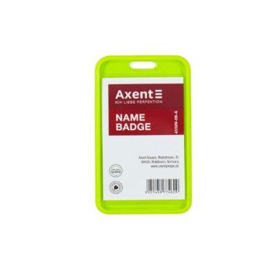 """Бейдж-чехол вертикальный """"Axent"""" 4550V-09 54*85 салатовый"""