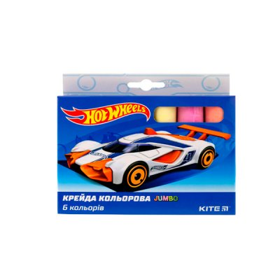 "Мел цв.  6цв ""Kite"" Jumbo HW19-073 ""Hot Wheels"""