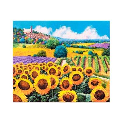 Алмазная живопись 30 х 40 см Разноцветные поля 75493