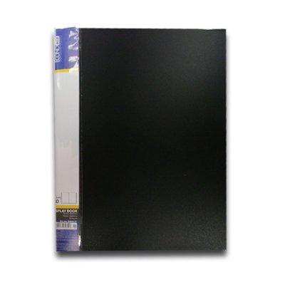 """Папка  пластиковая с 40 файлами А4 """"Economix"""" E30604-01 черная"""