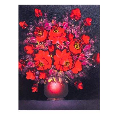 Алмазная живопись 30 х 40 Букет красных цветов в вазе 74542 **