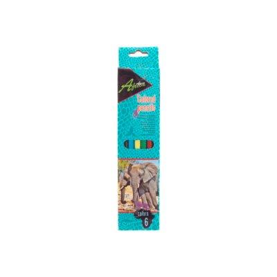 """Карандаши цветные """"Economix"""" E11529 """"Africa"""" 6 цветов, пластиковые"""