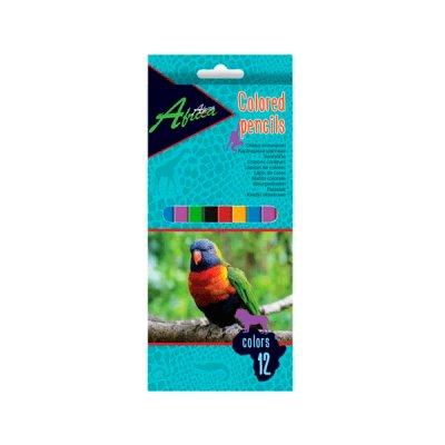 """Карандаши цветные """"Economix"""" E11530 """"Africa"""" 12 цветов, пластиковые"""