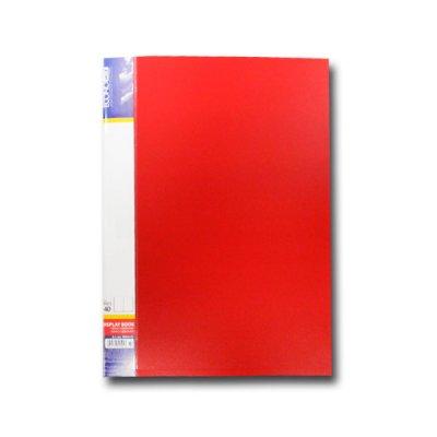 """Папка  пластиковая с 40 файлами А4 """"Economix"""" E30604-03 красная"""