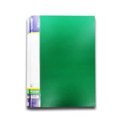 """Папка  пластиковая с 40 файлами А4 """"Economix"""" E30604-04 зеленая"""