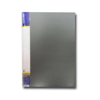 """Папка  пластиковая с 40 файлами А4 """"Economix"""" E30604-10 серая"""