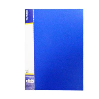 """Папка  пластиковая с 60 файлами А4 """"Economix"""" E30606-02 синяя"""