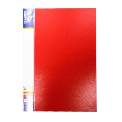 """Папка  пластиковая с 60 файлами А4 """"Economix"""" E30606-03 красная"""