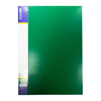 """Папка  пластиковая с 60 файлами А4 """"Economix"""" E30606-04 зеленая"""