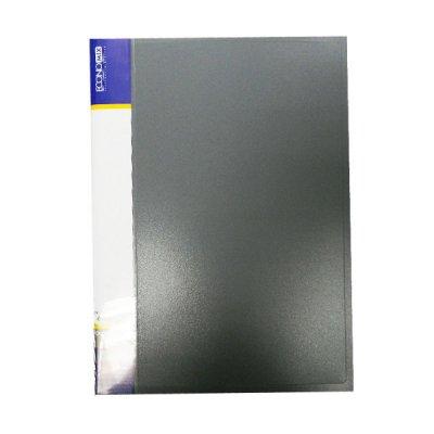 """Папка   пластиковая с  60  файлами А4  """"Economix"""" E30606-10 сереая"""