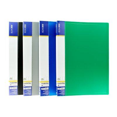 """Папка  пластиковая с 80 файлами А4 """"Economix"""" E30608"""
