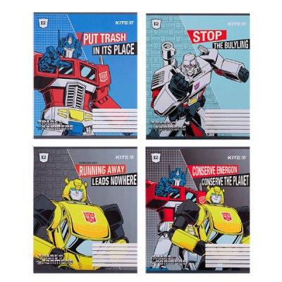 Тетрадь 12 л # в клетку Kite TF21-232 Transformers лак софт-тач + УФ лак *