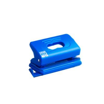 """Дырокол """"BuroMAX"""" 4015-02 на 10 листов, пластиковый с линейкою, синий"""