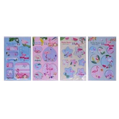 "Блок бумаги  липкий ""Фламинго"" 894F (набор) Mix"